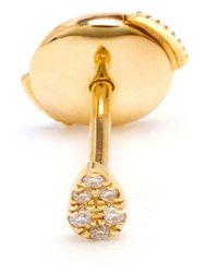 Yvonne Léon Metallic 18kt Gold And Pavé Diamond Stud Earring