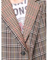 Monse チェック シングルブレスト コート Multicolor