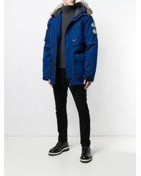 メンズ Pyrenex フーデッド パデッドジャケット Blue