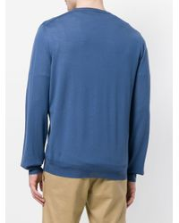 Джемпер Тонкой Вязки Ferragamo для него, цвет: Blue
