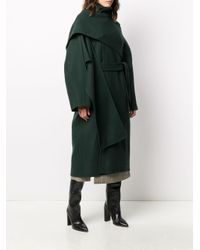 Ports 1961 Green Double-breasted Belted Coat