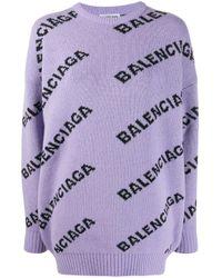 Balenciaga ロゴ プルオーバー Purple