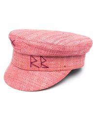 Casquette gavroche à logo brodé Ruslan Baginskiy en coloris Pink