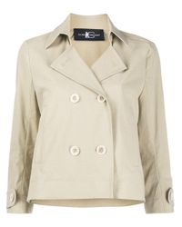 Luisa Cerano Natural Double-breasted Trench Jacket