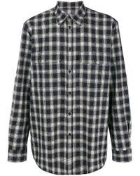 Camisa a cuadros con dobladillo redondeado Givenchy de hombre de color Black
