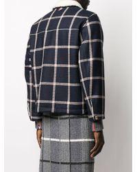 Куртка С Подкладкой Из Овчины Thom Browne для него, цвет: Blue
