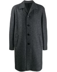 Harris Wharf London Gray Single Breasted Wool Coat for men