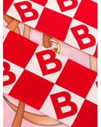 Burberry プリント スカーフ Red