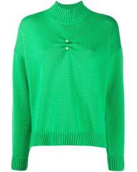 Jersey con cuello alto Ganni de color Green
