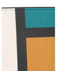 Valextra Multicolor Colour Block Clutch
