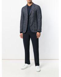 Jersey clásico con manga larga John Smedley de hombre de color Blue
