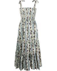 Tory Burch フローラル ノースリーブドレス Multicolor