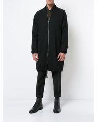 Ann Demeulemeester - Black Long Bomber Jacket for Men - Lyst