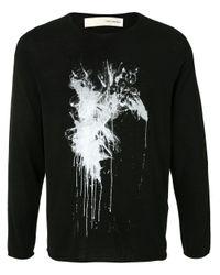 メンズ Isabel Benenato リラックスフィット Tシャツ Black