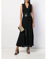 Alexander McQueen Vネック ドレス Black