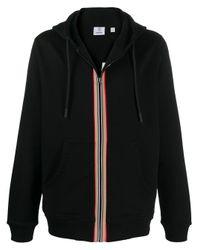 Burberry Black Stripe Zip Hoodie for men