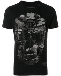 Philipp Plein Black Bad-s T-shirt for men