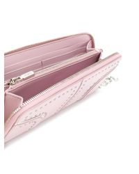 Tod's Pink Studded Continental Wallet