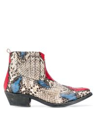 Golden Goose Deluxe Brand Multicolor Snake Print Boots