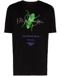 メンズ Haider Ackermann オーバーサイズコットンジャージーtシャツ Black