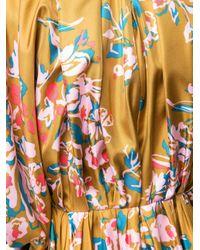Roksanda カラーブロック ギャザードレス Yellow