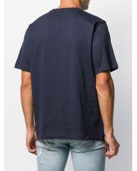 メンズ Calvin Klein ロゴ Tシャツ Blue