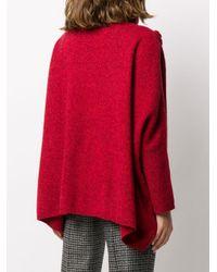 N.Peal Cashmere ケーブルニット セーター Red