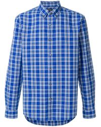 MICHAEL Michael Kors Blue Classic Checked Shirt for men
