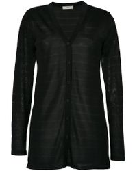 Egrey - Black 'dallas' Knitted Long Cardigan - Lyst