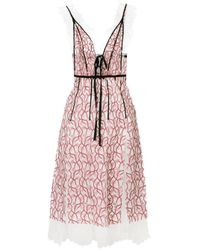 Giambattista Valli Pink Floral Lace Dress