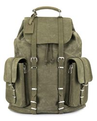 READYMADE Green Buckle Strap Backpack