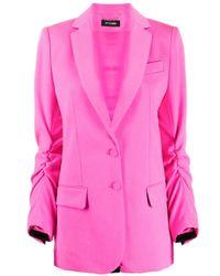Blazer con detalle fruncido Styland de color Pink