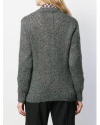 Prada Vネック セーター Gray