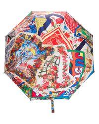 Moschino Multicolor Printed Logo Umbrella