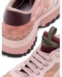 Valentino Garavani Pink 'Rockrunner' Sneakers
