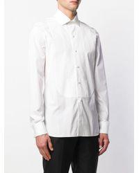 Рубашка-смокинг Ermenegildo Zegna для него, цвет: White