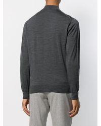 メンズ Eleventy ジップアップ スウェットシャツ Gray