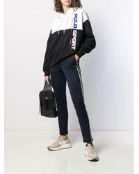 Polo Ralph Lauren Black Contrast Drawstring Hoodie