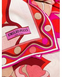 Emilio Pucci プリント スカーフ Pink
