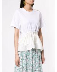 3.1 Phillip Lim パールショルダー Tシャツ White