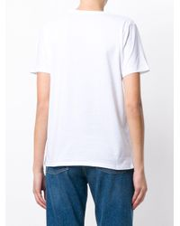 Balmain White Button-embellished Logo T-shirt