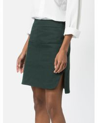 Carven Green A-line Skirt