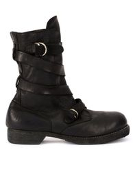 Guidi Stiefel in Wickeloptik in Black für Herren