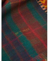 Etro チェック スカーフ Multicolor