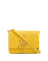 J.W. Anderson ロゴ ストローバッグ Yellow