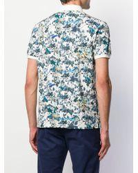 メンズ Etro フローラル ポロシャツ Blue