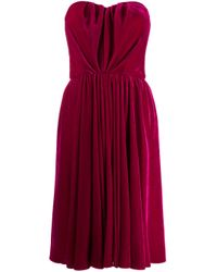 Dolce & Gabbana Pink Rushed Cocktail Dress