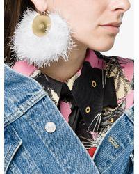 Katerina Makriyianni - Red Large Fringed Earrings - Lyst