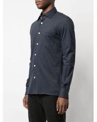 Camisa vaquera ajustada Kiton de hombre de color Blue
