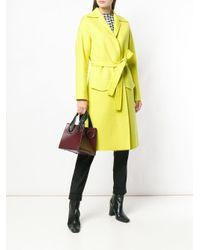 Gabardina con cinturón Rochas de color Yellow
